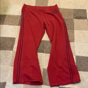 DKNY red sweatpants